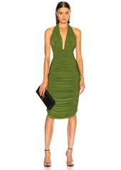 Norma Kamali Halter Dress With Rhinestones