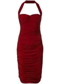 Norma Kamali halter-neck bill dress