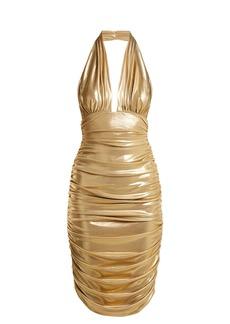 Norma Kamali Halterneck plunge dress