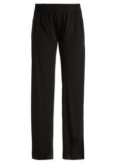Norma Kamali High-rise jersey trousers