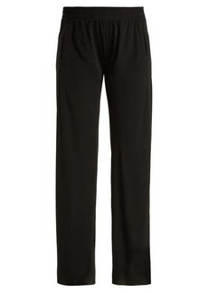 Norma Kamali High-rise jersey trousers