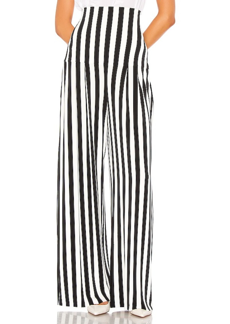 Norma Kamali High Waist Pleat Pant