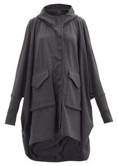 Norma Kamali Hooded cotton-blend poncho