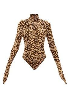 Norma Kamali Leopard-print bodysuit