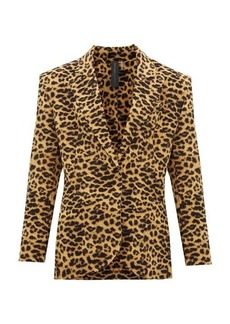 Norma Kamali Leopard-print single-breasted blazer