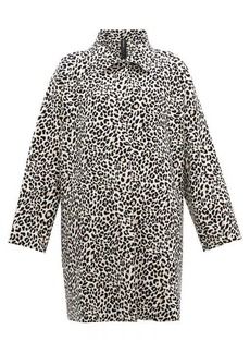 Norma Kamali Leopard-print single-breasted coat
