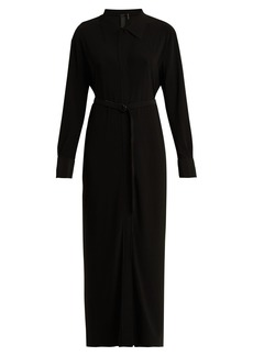 Norma Kamali Long belted shirtdress