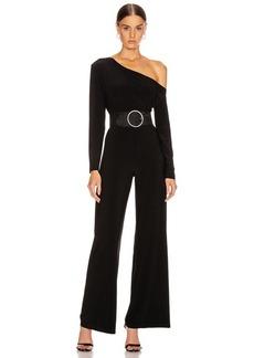 Norma Kamali Long Sleeve Drop Shoulder Jumpsuit