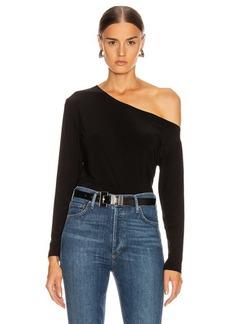 Norma Kamali Long Sleeve Drop Shoulder Top