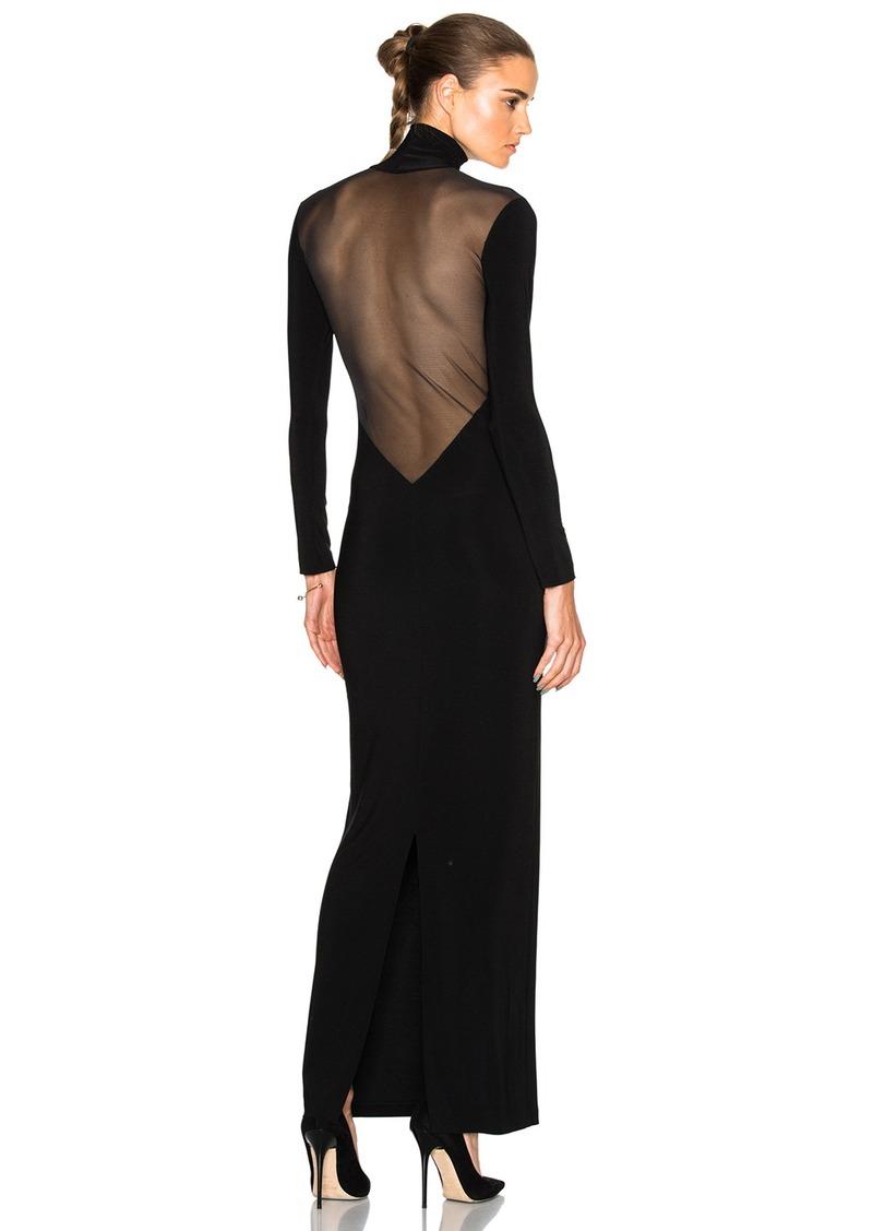 Norma Kamali Norma Kamali Low Back Mesh Dress  ceeee1e02