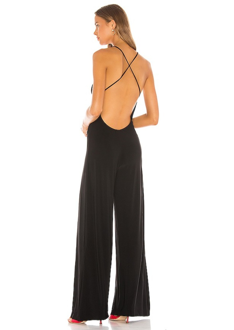 Norma Kamali Low Back Slip Jumpsuit
