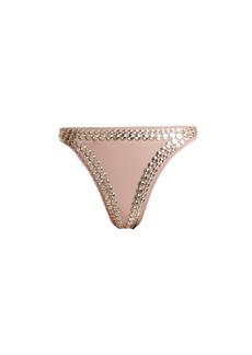 Norma Kamali Luca studded bikini briefs