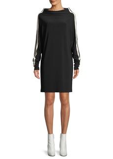 Norma Kamali MJ All-in-One Dress w/ Side Stripes
