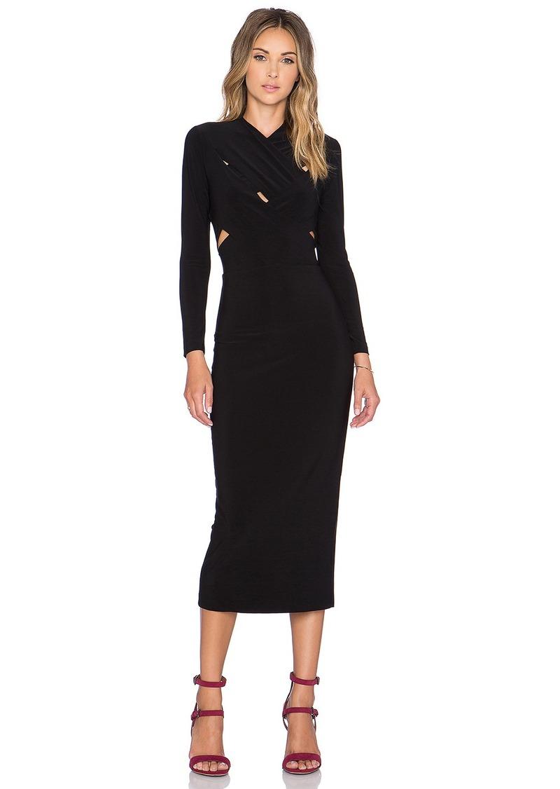 Norma Kamali NORMA KULTURE X Cross Midi Dress
