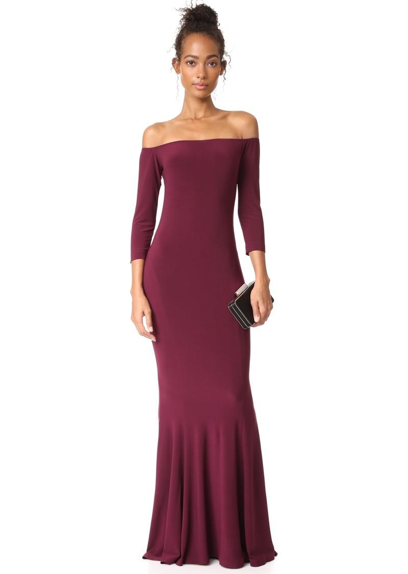 SALE! Norma Kamali Norma Kamali Off Shoulder Fishtail Gown - Shop It ...