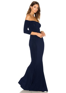 Norma Kamali Off The Shoulder Fishtail Gown