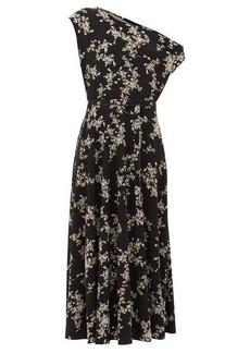Norma Kamali Off-the-shoulder floral-print midi dress