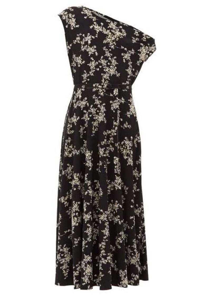 Norma Kamali Off-the-shoulder floral-print midi dress