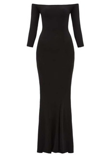 Norma Kamali Off-the-shoulder jersey maxi dress