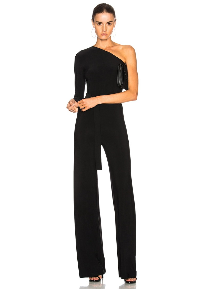 ae51dd817784 Norma Kamali Norma Kamali One Shoulder Belted Jumpsuit