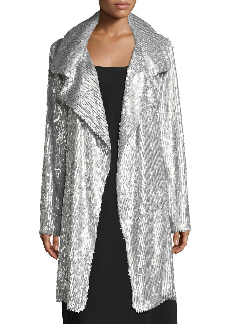 cea0b33db Oversized Sequin Topper Coat