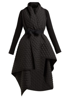 Norma Kamali Quilted blanket belted coat