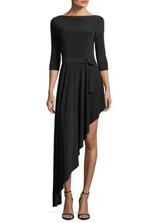 Norma Kamali Reversible Asymmetric Flared Dress