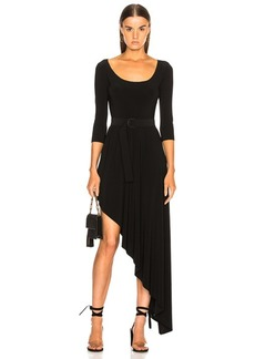 Norma Kamali Reversible Diagonal Flared Dress