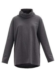 Norma Kamali Roll-neck jersey top