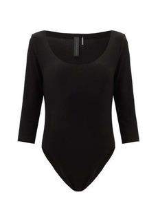 Norma Kamali Scoop-neck jersey bodysuit