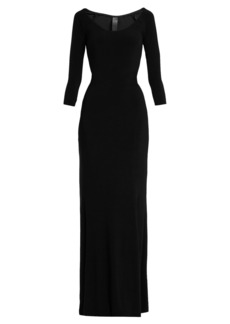 Norma Kamali Scoop-neck jersey dress
