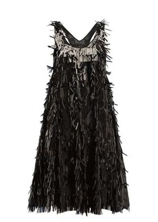 Norma Kamali Sequin-fringed mini dress