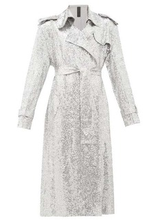 Norma Kamali Sequinned double-breasted trench coat