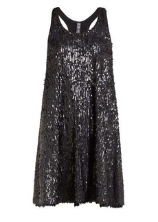 Norma Kamali Sequinned flared mini dress