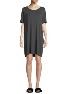 Norma Kamali Short-Sleeve Boxy Scoop-Neck Tee Dress