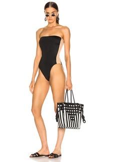 Norma Kamali Side Stripe Bishop Swimsuit