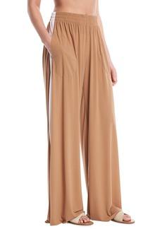Norma Kamali Side-Stripe Elephant Sweatpants