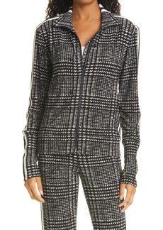 Norma Kamali Side Stripe Glen Plaid Jacket