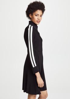 Norma Kamali Side Stripe Shirt Flared Dress