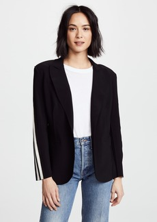 Norma Kamali Side Stripe Single Breasted Jacket