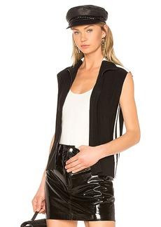 Norma Kamali Side Stripe Sleeveless Jacket