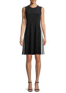 Norma Kamali Side-Stripe Sleeveless Mini Dress