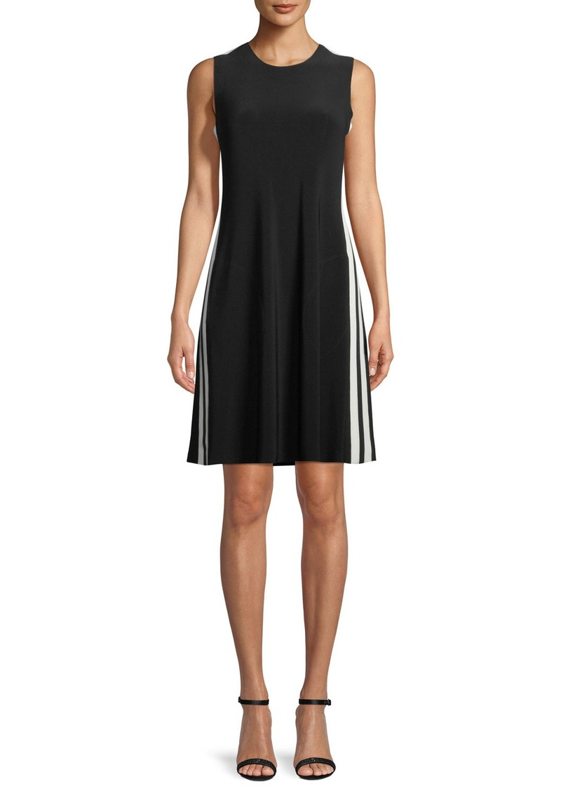 Norma Kamali Side-Stripe Sleeveless Mini Dress