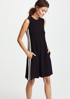 Norma Kamali Side Stripe Sleeveless Swing Dress