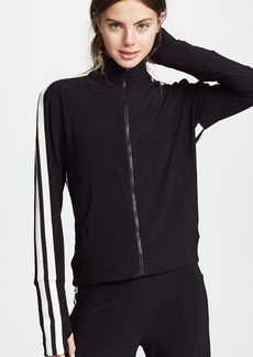 Norma Kamali Side Stripe Turtle Track Jacket