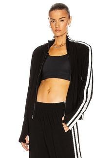 Norma Kamali Side Stripe Turtleneck Jacket
