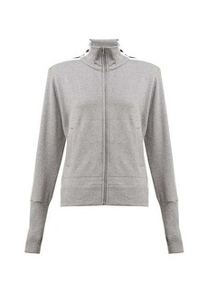 Norma Kamali Side-striped cotton-blend track jacket