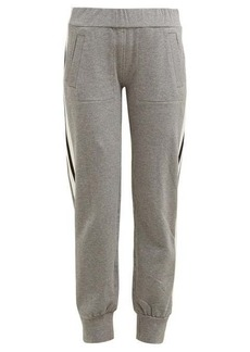 Norma Kamali Side-striped stretch-cotton track pants