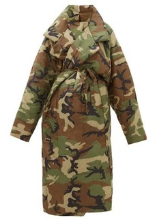 Norma Kamali Sleeping Bag camouflage padded coat