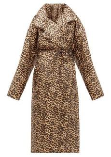 Norma Kamali Sleeping Bag leopard-print coat